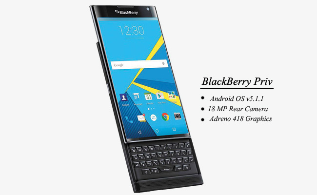 BlackBerry Prive Front
