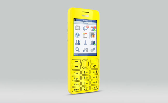 Nokia 206 Yellow Color